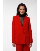 Kırmızı Kruvaze Ceket
