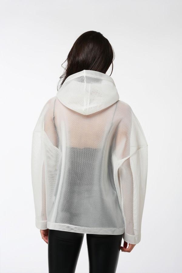 Beyaz File Sweatshirt
