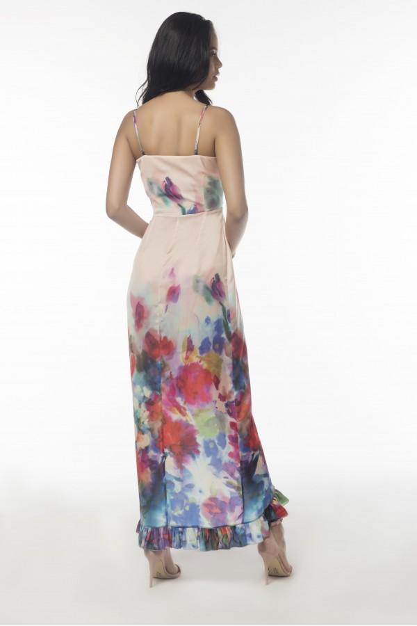 Çok Renkli Anvelop Elbise