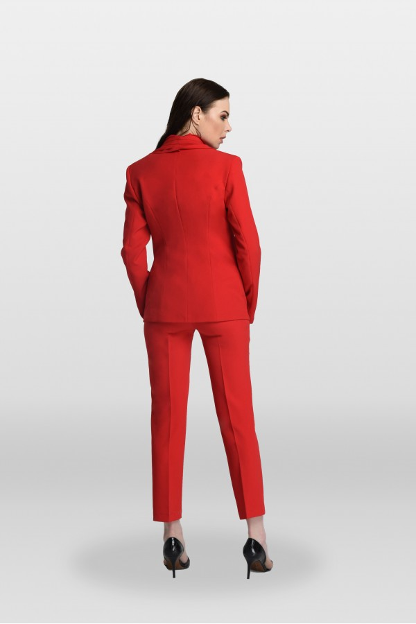 Kırmızı Lazer Kesim Ceket