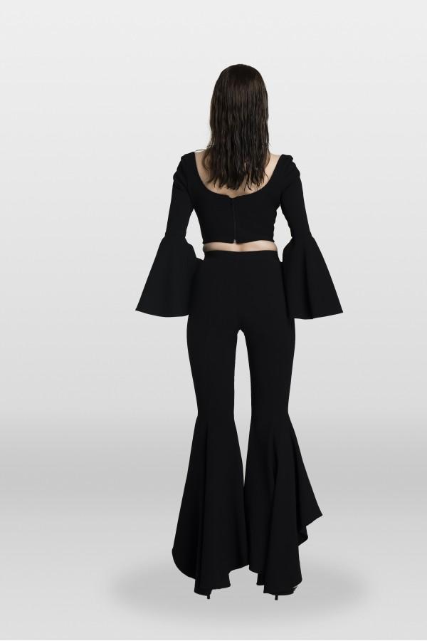 Siyah Volanlı Pantolon